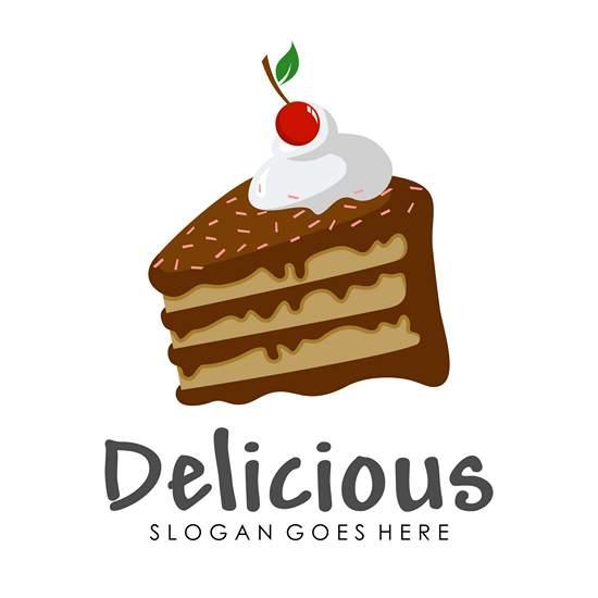 طراحی لوگو کیک با قیمت و کیفیت مناسب