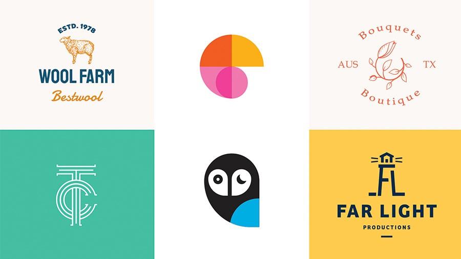 چند نمونه لوگوی بسیار ساده و استاندارد