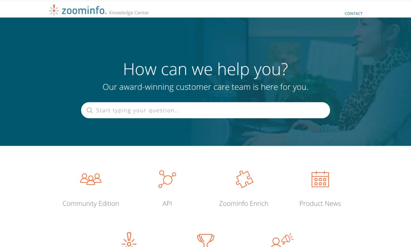 ZoomInfo صفحه سوالات متداول آنها را به راحتی قابل جستجو می کند